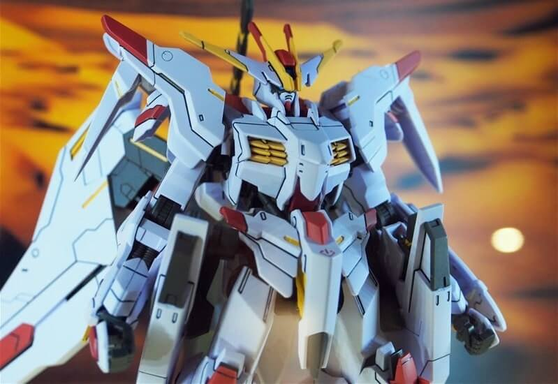 close up body of Gundam Marchosias