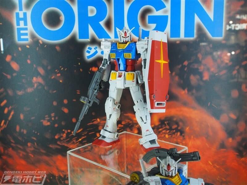 on display stand Gundam the Origin Custom