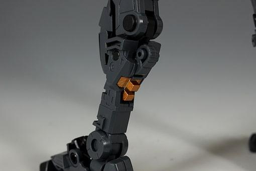 closeup leg inner frame of HiRM God Gundam