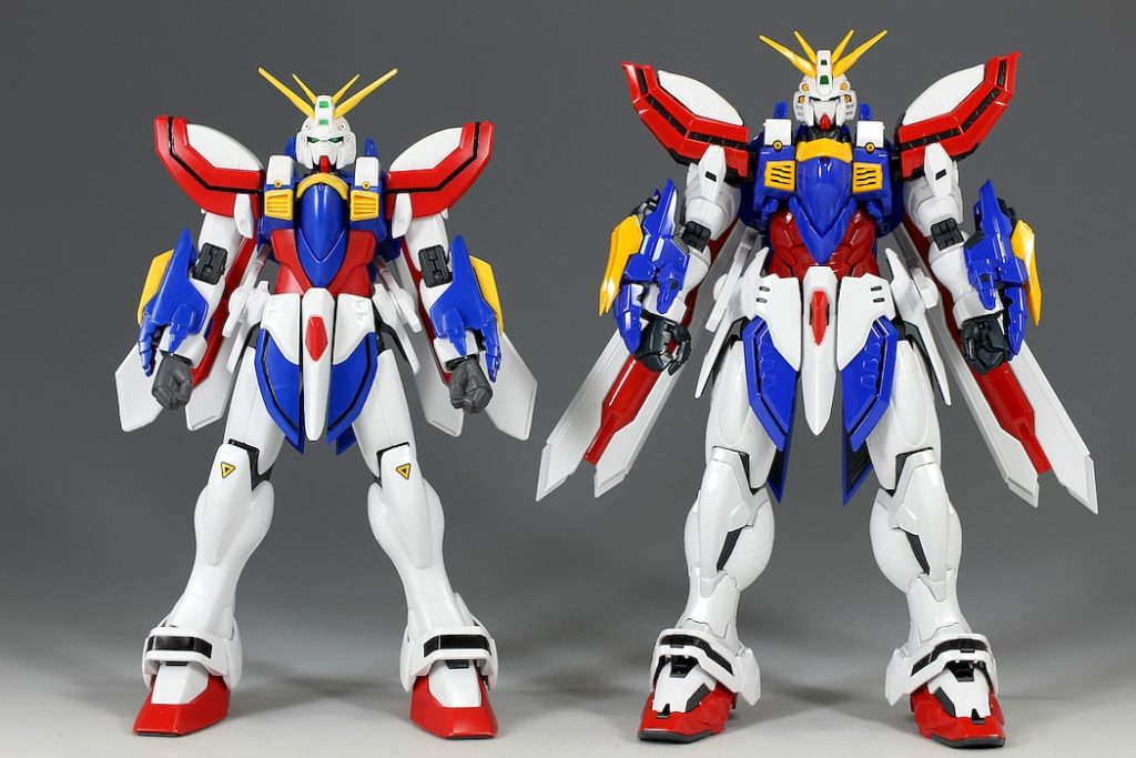 comparison HiRM God Gundam