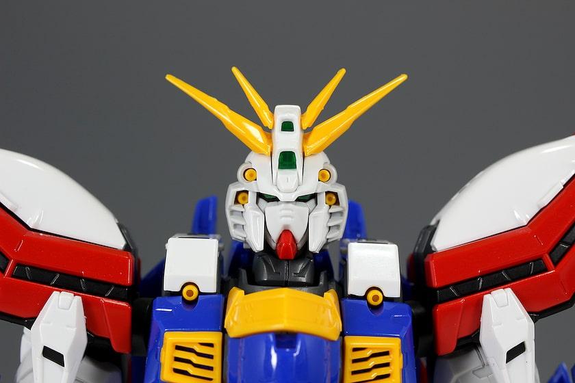 closeup head of HiRM God Gundam