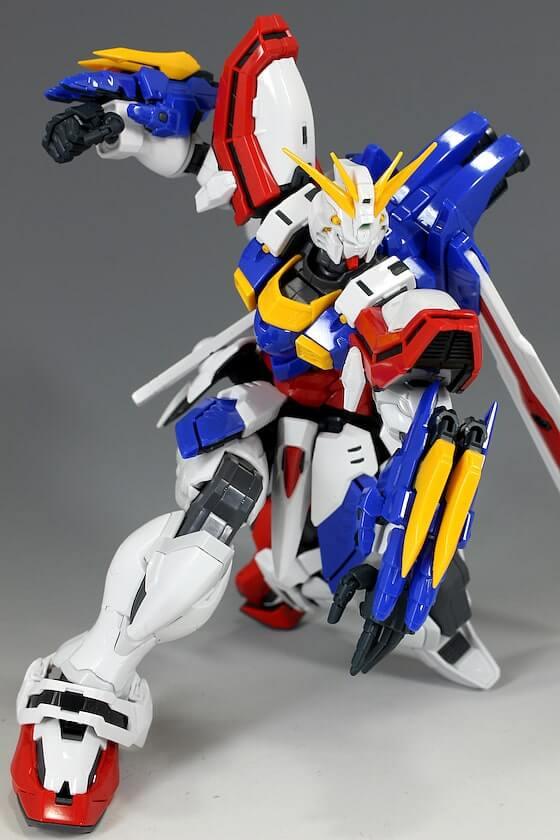 action pose of HiRM God Gundam