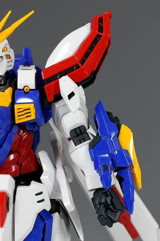 closeup shoulder of HiRM God Gundam