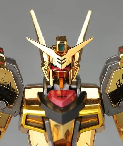 head closeup of Akatsuki Gundam