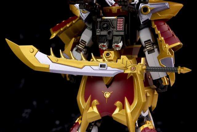 rear view with attached sword for the Cao Cao Gundam Real Type