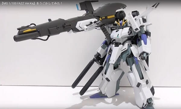screenshot of the video review for the MG 1/100 FAZZ Ver.Ka