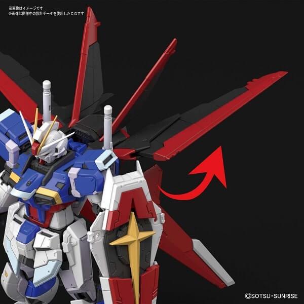 closeup wings of Force Impulse Gundam