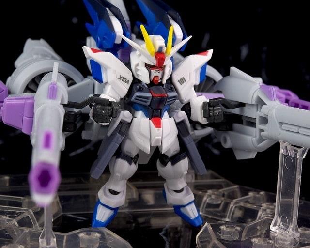 freedom gundam with meteor unit