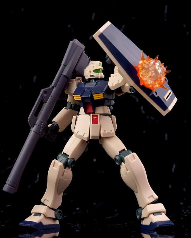 GM Custom with explosion effect on the shield