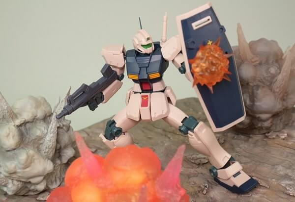 explosion effect on the shield of ROBOT魂 GM Type C