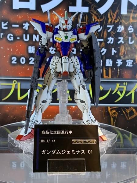 HG Gundam Geminass 01 with panel lines added at gundam base tokyo