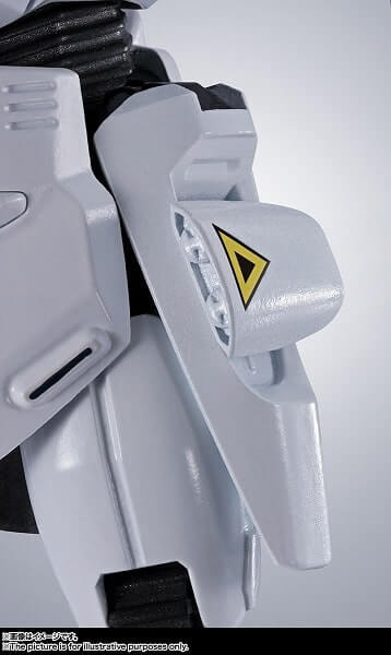 side closeup of the action figure of Gundam F91 Evolution