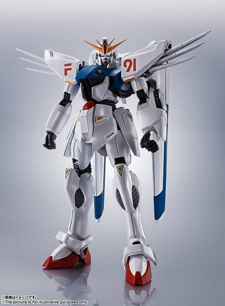 front view of the Gundam F91 Evolution