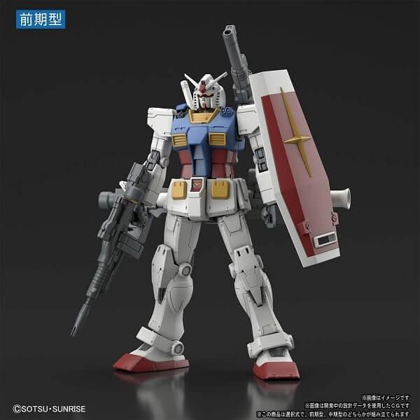 full weapons front view of Gundam The Origin Custom