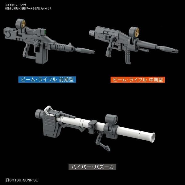 full weapons set of Gundam The Origin Custom