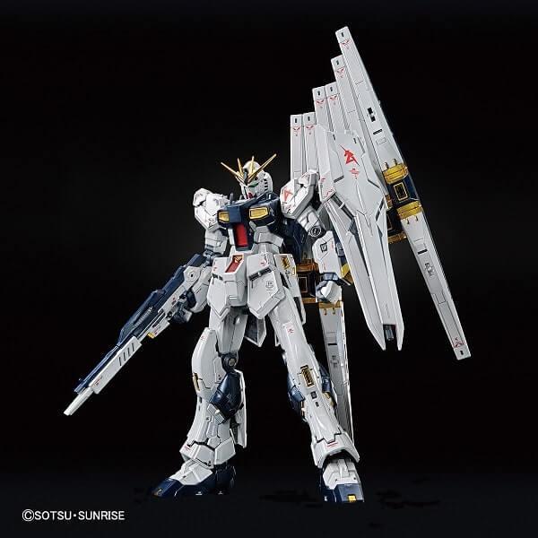 front view of Nu Gundam Titanium Finish