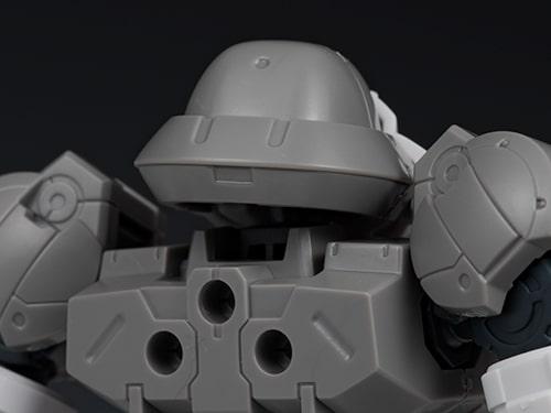 closeup head rear view for the Portanova Space Type Gray
