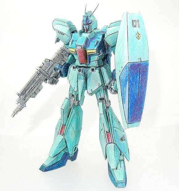 front view of the Refined Gundam Zeta