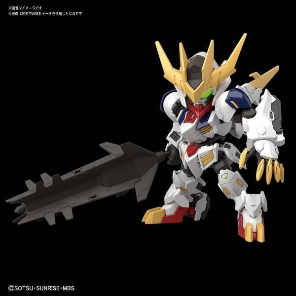 front view with weapon SDCS Gundam Barbatos Lupus Rex