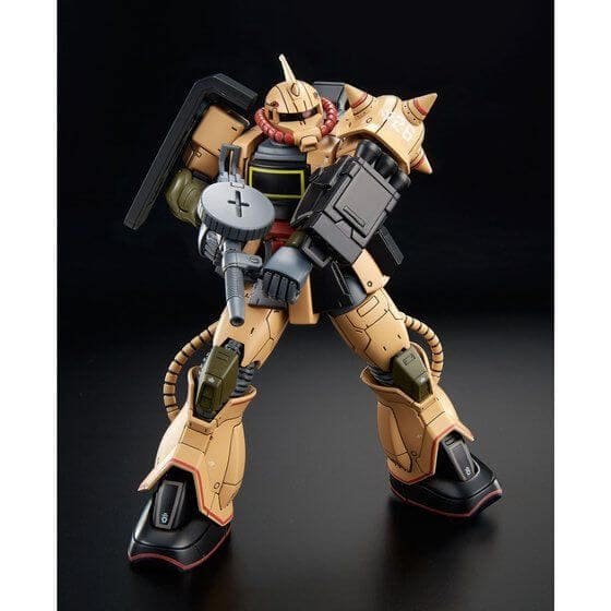 official image in action for the Zaku Desert Type