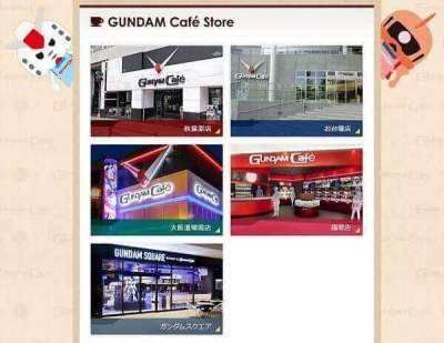 The GUNDAM Café Akihabara store