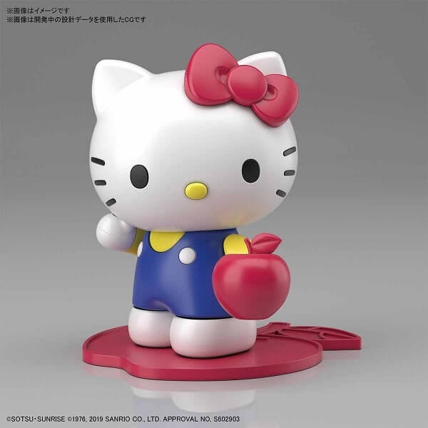 front view of hello kitty
