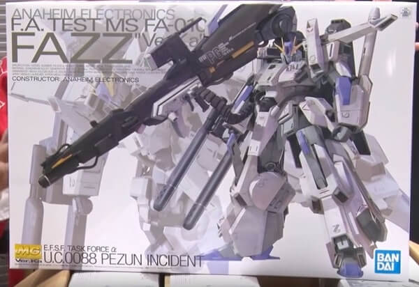 showing the huge box of the MG Fazz Ver.ka