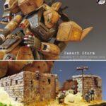 "1/100 Gelgoog Desert Type Custom Diorama Title ""Desert Storm"""
