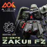 REVIEW RE/100 MS-06FZ Zaku II Kai Garage Kit AOK silveroaks × INDUSTRIAL GEAR