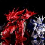 Review Premium Bandai FW GUNDAM CONVERGE: CORE Hi-ν Gundam and Nightingale Metallic color ver.