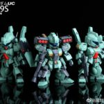 SD Gundam Cross Silhouette SDCS STARK JEGAN and JEGAN Type D Garage Kits by STICKLER STUDIO: many images