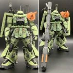 Review PG Zaku High Mobility Type: scratch and mixing build by ebichang_RNC7 (info and wip too)