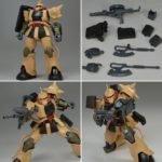 Review P-Bandai The Origin MSD Series HG Zaku Desert Type