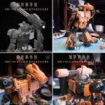 Preview Many Images : MG 1/100 Zaku exclusive Gatling gun equipped type garage kit (automatic rotation gimmick)