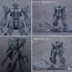 Preview images: MG 1/100 RX-80PR Pale Rider Ground / Space Type spec (garage kit, full info)