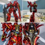 [Runners plating] MG 1/100 Sinanju Exterior shell modified plastic model kit by Takumi Studio: many images