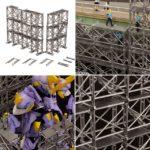 1/64 ~ 1/100 Scaffolding Plastic Model [Plum] full info, images