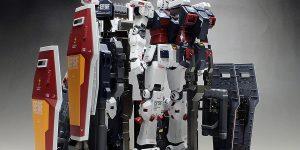 [WORK REVIEW] P-Bandai MG 1/100 Full Armor Gundam Ver.Ka Thunderbolt + Weapon and Armor Hanger.