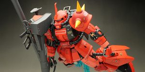 WORK REVIEW: RG 1/144 MS-06R-2 JOHNNY RIDDEN'S ZAKU II (MS Gundam MSV Series) PAINTED BUILD, Images