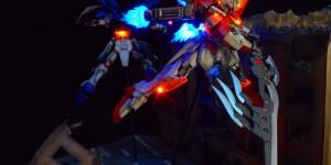 Diorama Full LEDs: HGBF Wing Gundam Zero Honoo [希望之光番外篇] Photo Review, some WIP too. Work by 最後的月牙天衝