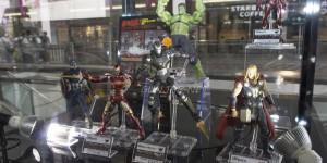 S.H.Figuarts x Avengers Age of Ultron: Iron Man Mk43, Hulk, Captain America, Iron Man Mk45, Thor, War Machine Mk2. Tamashii Showroom PHOTOREPORT No.39 Hi Res Images