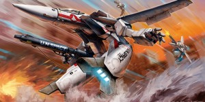 Amazing Box Art of 1/72 plamo Hasegawa VF-1J/A Valkyrie Gerwalk Mode, Info Release