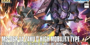 HG 1/144 MS-06R-1A Zaku II High Mobility Type [Black Tri-Stars ORTEGA use]: Update Box Art, Official Images, Info Release