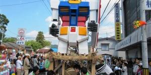 Gundam & others crashing into each other @ Harimichi Abare Dashi (Riotous Float Festival): Photoreport