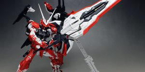 WORK REVIEW: P-Bandai MG 1/100 GUNDAM ASTRAY TURN RED painted build, many images