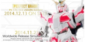 PG 1/60 RX-0 Unicorn Gundam will be displayed from 21st Nov. First Official Promo Images (English Ver.)