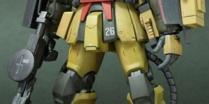 HGUC 1/144 Zaku Desert Type (Old Kit semi scratch-build): Work by nebusoku. Photo Review, WIP