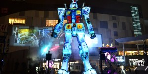 1/1 Gundam statue (Odaiba) New Projection mapping [G-Party 35 RISE!] from 15 August 2014, No.17 Big Size Images, Info