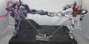 [GBWC 2015]Hong Kong 1/144 Diorama: Try Burning Gundam Vs Denial Work by Ho Lam. Full PHOTO REVIEW