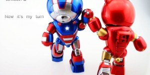 HGBF BEARGGUY III Ver. Captain America - Iron Man. Full Photo Reviews No.36 Big Size Images. Latest Works by 我是野区的小狼
